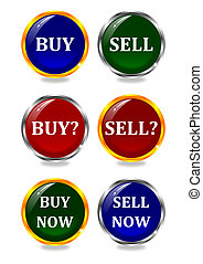 Color buttons buy, sell, now