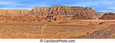 Red mountains in Timna park. - Red mountains of Arava desert...