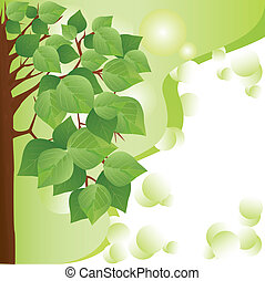 eco background with tree. place for text