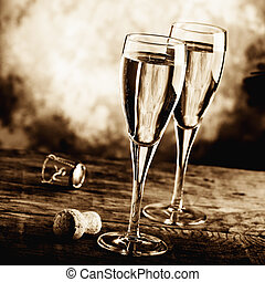 celebrate with bubbly wine