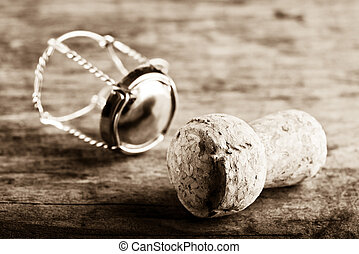 cork of bubbly wine