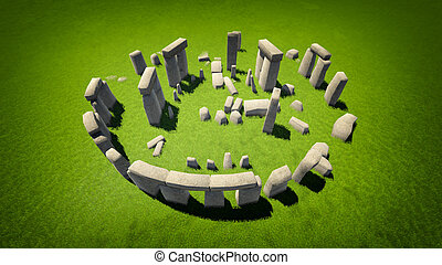 Stonehenge - High quality image of Stonehenge - one of the...