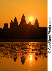 Angkor Wat - The ancient ruins of Angkor Wat in Cambodia