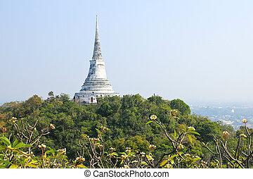 Pagoda on the mountain in Phra Nakhon Khiri Khao wang...