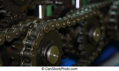 Chain mechanism - Chain mechanism of the press machine