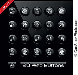 Documents Icons 2 - Black Label - Vector buttons for your...