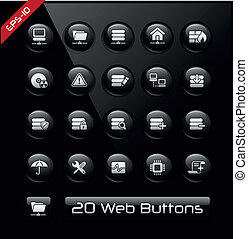 Network and Hosting Icons - Vector buttons for your website...