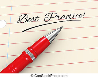 3d pen on paper - best practice - 3d render of pen on paper...