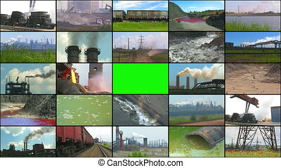 Media Wall: Industry and Pollution.