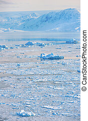 iceberg in spring time in greenland