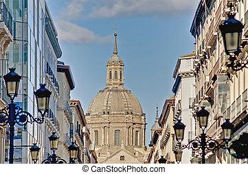 rua,  Alfonso, Espanha,  zaragoza