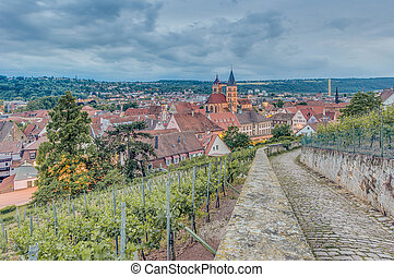 Esslingen am Neckar views from Burgsteige to the Castle Burg...