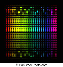 Abstract music equalizer - illustration of colorful musical...