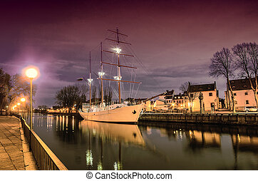 Old Town of Klaipeda, Lithuania - Klaipeda Lithuania in the...