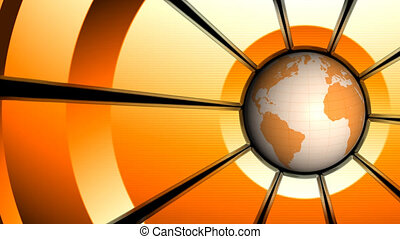 Globe animation. Loop background.