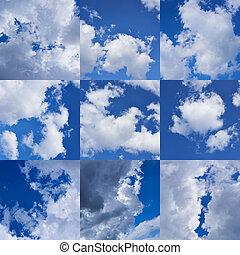 天空, 多雲, 彙整