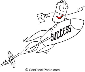 Success - Joe, the businessman on a rocket ! He's the best