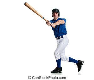 Baseball Player - Young adult baseball player. Studio shot...