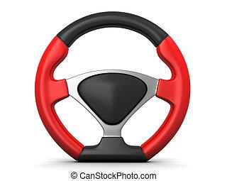 racing steering wheel - Red and black racing steering wheel...