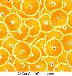Orange Slices Background - Overlapping slices of oranges...