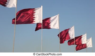 National flags of Qatar - National flags of Qatar, Middle...