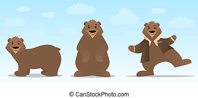 Bear Character Set