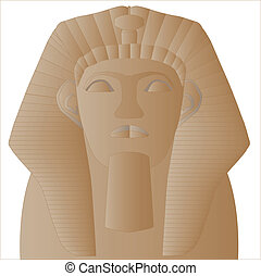 Sphinx - The head of an ancient Egyptian sphinx