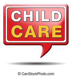 child care in daycare or crèche by nanny or au pair...