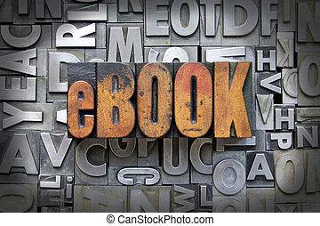 eBook written in vintage letterpress type