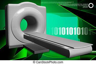 Medical scanner - Digital illustration of Medical scanner in...