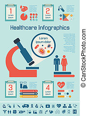 Medical Infographic Template. - Flat Medical Infographics...