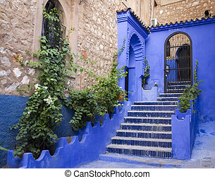 Chefchaouen medina - Traditional moroccan architectural...