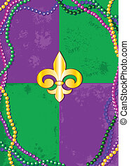Mardi Gras background - Mardi Gras design with place for...
