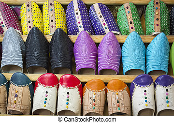 Moroccan slippers - Moroccan traditional slippers, Morocco,...