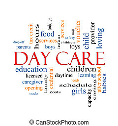 Day Care Word Cloud Concept with great terms such as...