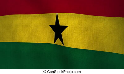 Ghana Waving Flag (Loop-able) - World Cup Qualifier Ghana...