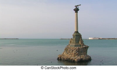 Monument of sunken ships. Sevastopol, Crimea, Ukraine