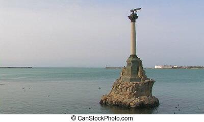 Monument of sunken ships. Sevastopol, Crimea, Ukraine