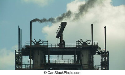 Industrial building. - Industrial building with smoking...
