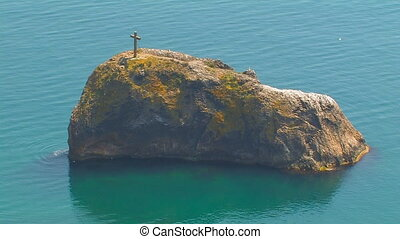 Cross on the top of the island - u0421ross on the top of the...