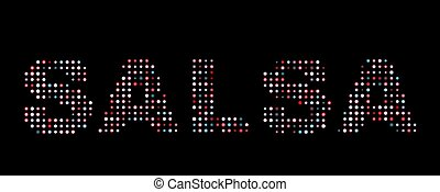 Salsa led text