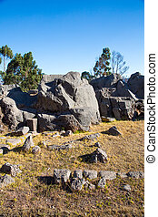 Peru, Qenko, located at Archaeological Park of...