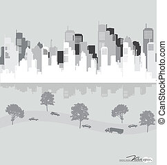 City, vector Illustration