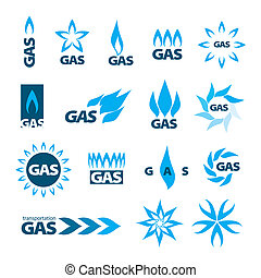 collection of vector logos of natural gas
