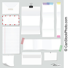Collection of various note papers, ready for your message...