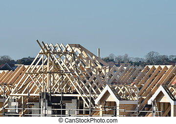 large building roof being constructed - Large Roof under...