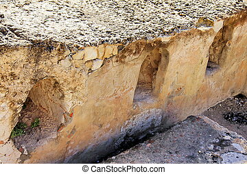 burial caves from the First Temple on Mount Scopus Jerusalem...