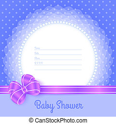 Card template for Baby Shower