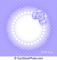 Frame with beads and bow - Gentle frame with beads and bow....
