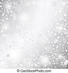 Silvery christmas frame - Shiny silver Christmas background...